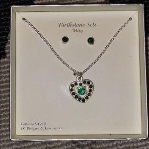 May birthstone jewelry set